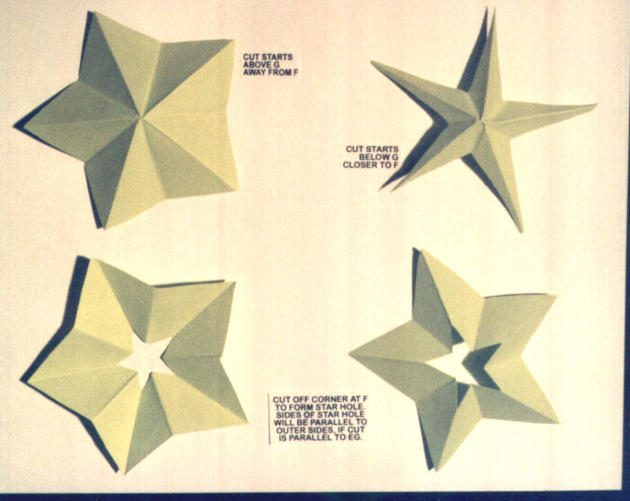 5 point star paper relief free instructions