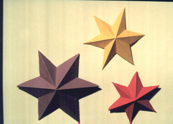6 Point Star - Paper Relief - Free Instructions
