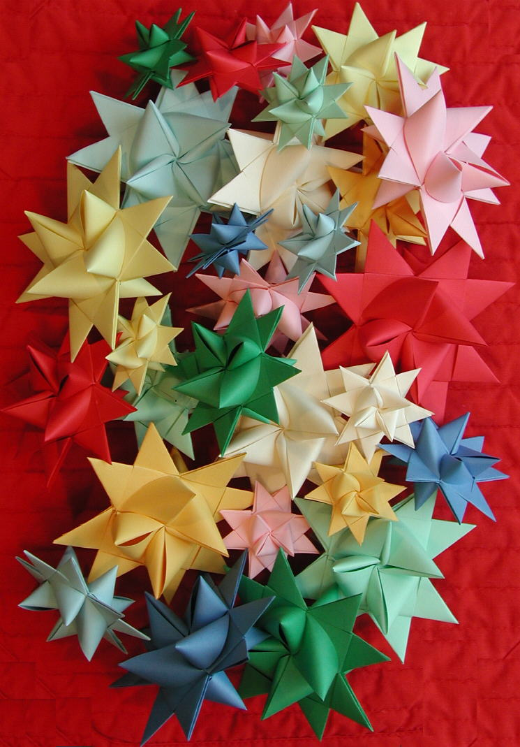 3 D Stars Moravian Pensylvanian German Origami Mouse Instructionsorigami Diagramorigami Mickey
